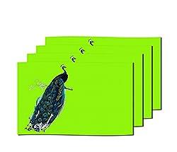 meSleep Green Peacock Table Mats