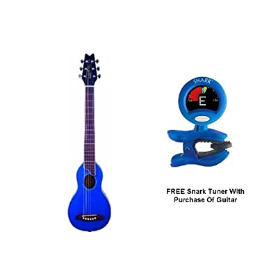 Washburn Rover Steel String Travel Acoustic Guitar (BLUE)*FREE SNARK TUNER* review
