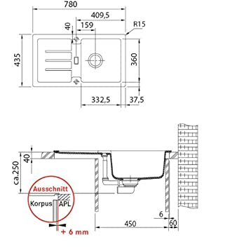 Franke Küchen-Spüle STG 614-78 (114.0303.666) - Fragranit Onyx - us248