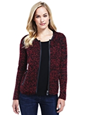 M&S Collection Bouclé Cardigan with Wool