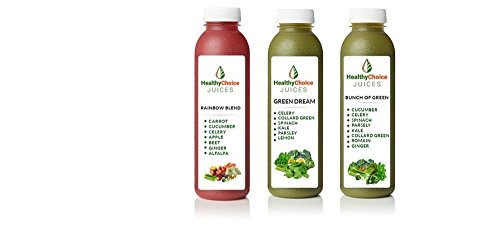 Healthy Choice Juices 3 Day Detox Cleanse Cold Pressed Juice - 9 Bottles