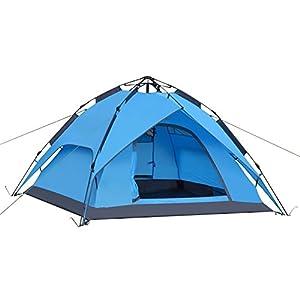 YOTECE ワンタッチテント テント 3~4人用 ワンタッチ 2WAY テント 設営簡単 防災用 キャンプ用品