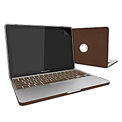 MacBook Pro 13 Leather Cover, SlickBlue Hard Shell Leatherette Case with Keyboard Cover and Screen Protector for MacBook Pro 13
