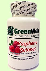 Green Web Raspberry Ketones 500 Mg Ultra Weight Loss Supplement With African Mango Green Tea And L-carnitine 60 Capsules by Green Web