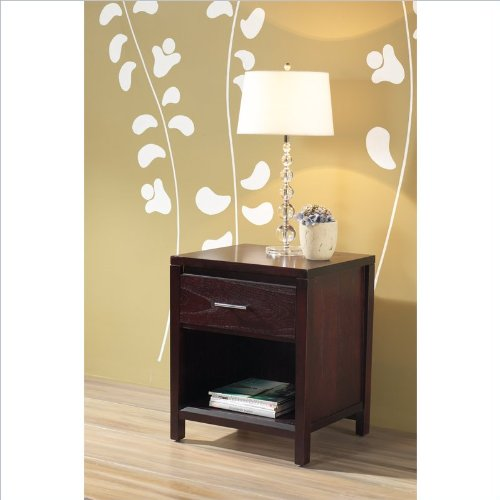 Modus Furniture International Nevis Charging Station Nightstand, Espresso front-621416