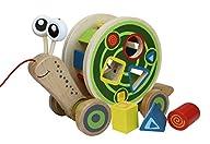 Hape – Walk-A-Long Snail Wooden Pull Toy