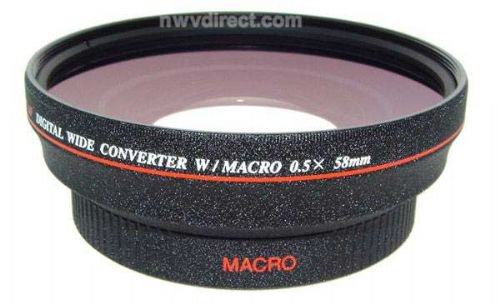 Jvc Gy-Hm100U 0.5X High Definition Wide Lens With Macro (58Mm Lens), Stepping Ring 46-58Mm, Nwv Direct 5 Piece Cleaning Kit