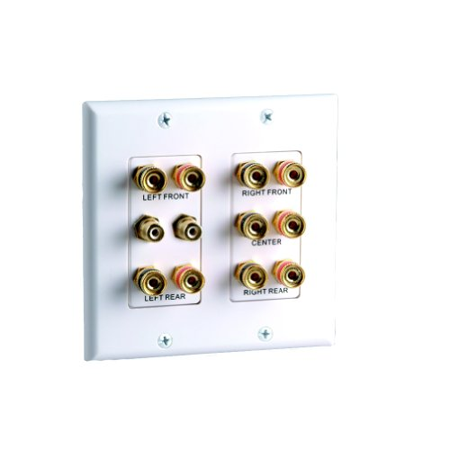 Vanco 45-0060 5.2 Home Theater Connection Wall Plate