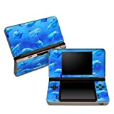 Swimming Dolphins Design Protective Decal Skin Sticker (High Gloss Coating) for Nintendo DSi XL Game Device