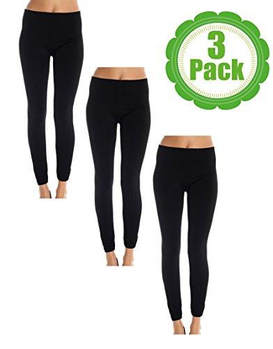 american-casual-womens-3-pack-fleece-lined-leggings-large-x-large-black-