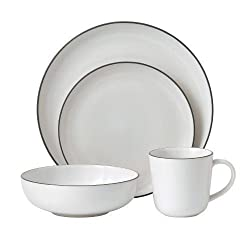 Gordon Ramsay 4-Piece Bread Street Dinnerware Set, White