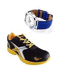 Elligator Sports Shoes With Lotto Blue Watch - B00WSA933U