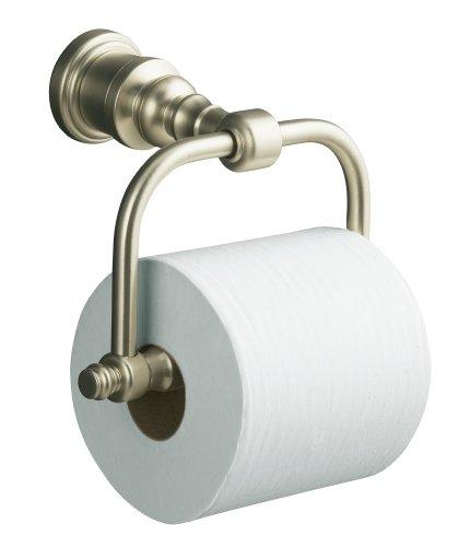 Kohler K-6828-BN IV Georges Brass Horizontal Toilet Tissue Holder (Vibrant Brushed Nickel)