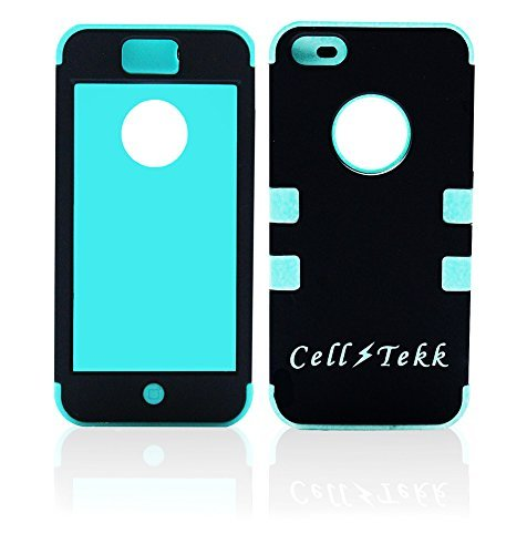 iPhone 5C Case,Cases,Cover [Cell Tekk] ~ 2 in1 Hybrid, Dual Layer, Durable,Silicone,Skin,Teal, Blue,Black,Apple,Dust Proof, Shockproof, Heavy Duty,Best,Review, Easy On/Off, Discounted, Price 1/2 Off MRSP Limited Supply-Buy Now!