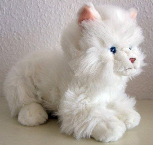 liegende weiße Katze, Perserkatze 27 cm (42