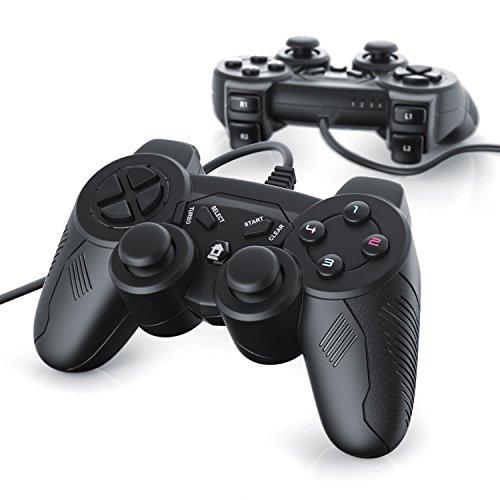 csl-2-x-manettes-pour-playstation-3-avec-cable-dual-vibration-joypad-controller-plug-play-noir