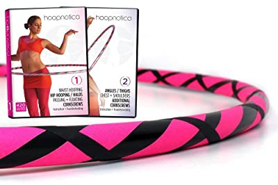 Hoopnotica Weighted Fitness Hula Hoop Starter Kit (Dreamweaver Double DVD Kit)