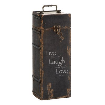 Woodland Imports 'Live, Laugh, Love' Wine Book Box