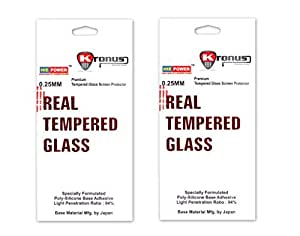Kronus (Pack of 2) Premium Quality(Trenzo) Tempered Glass Screen Protector For LG K8||2.5D Curve Edged Glass||Perfect Fit||HD Clear||9h Hardness||