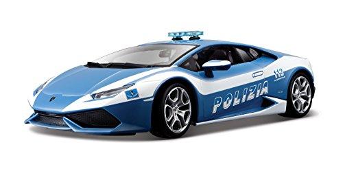 Bburago 18-11041 - Lamborghini Huracan Polizia Modellino, Scala 1:18