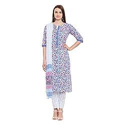 Pinkshink Blue Hand Block Printed Cotton Salwar Kameez Dress Material k104