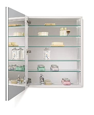 Jensen 52WH304DP Metro Deluxe Oversize Medicine Cabinet with Beveled Mirror, 24-Inch by 30-Inch