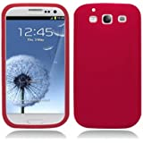Aimo Wireless SAMI9300SK003 Soft n Snug Silicone Skin Case for Samsung Galaxy S3 i9300 - Retail Packaging - Red