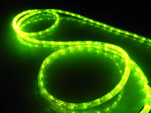 Lighting Equipment Accessories: 25Ft Rope Lights; Lime Green LED Rope Light Kit; 1.0