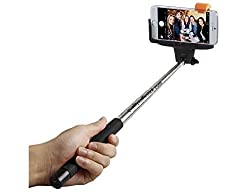 Selfie Stick Extendable Monopod Cell Phone Holder with Bluetooth Technology for Smartphones Blue QE07-5