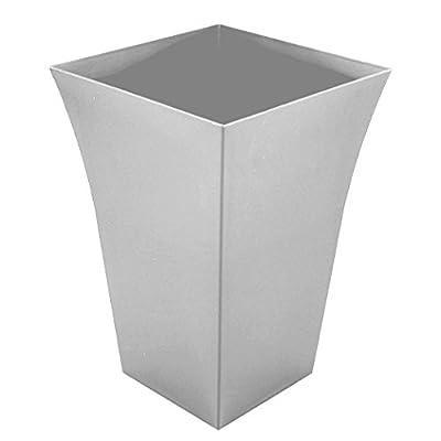 Large Milano Tall Planter Silver Square Plastic x 4 OGD165