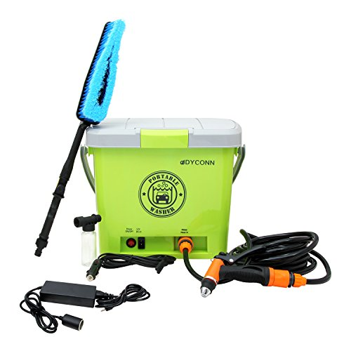 Dyconn Faucet HPPWS-12V Portable Pressure Washer System for Car Wash, 12-volt, Green (Bike Pressure Washer compare prices)