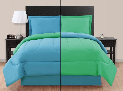 Review Of Twin Blue/ Green Reversible Comforter Set