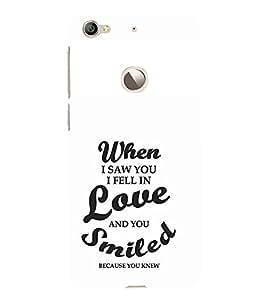 EPICCASE I fell in love Mobile Back Case Cover For LeEco Le 1s Eco (Designer Case)