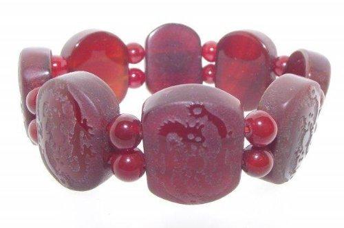 Dragon Etched Carnelian Gemstone / Crystal Bracelet