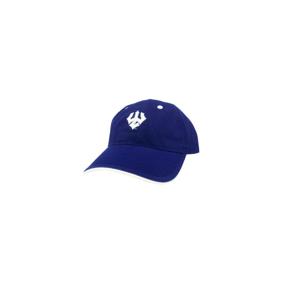 competitive price f0f1c 47dbf HAT CAP WASHINGTON LEE GENERALS W L BLUE WHITE LICENSED NCAA GARMENT WASH  GAME