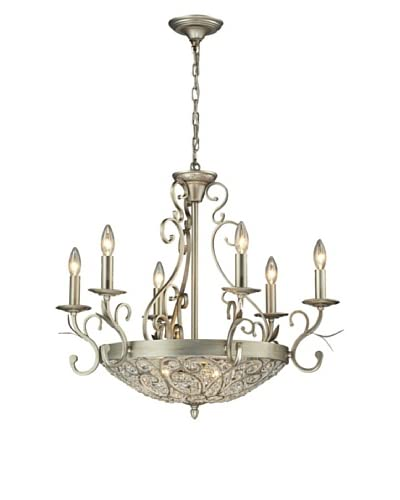 Artistic Lighting Andalusia Collection 9-Light Chandelier, Aged Silver