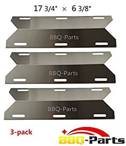 bbq-parts SPA231 (3-pack) Stainless Steel BBQ Gas Grill Heat Plate, Heat Shield, Heat Tent, Burner Cover, Vaporizor Bar, and Flavorizer Bar for Costco Kirland, Glen Canyon, Jenn-air, Nexgrill, Sterling Forge, Lowes (17 3/4 by bbq-parts