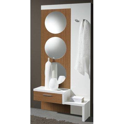 Garderoben-Set Farbe: Walnuss / Weiß