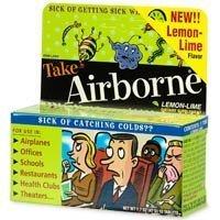 Airborne Effervescent Cold Lemon Lime Tablets -10ea