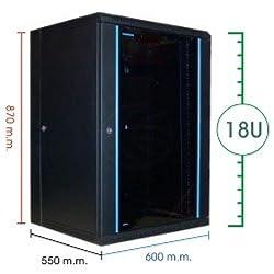 Cablematic - Armario rack de 19 RackMatic SOHORack PRO de 18U y fondo 550