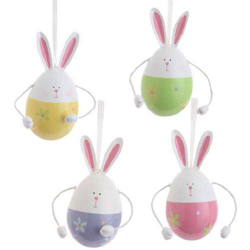 RAZ Imports – Easter Bunny Egg Ornaments 4″