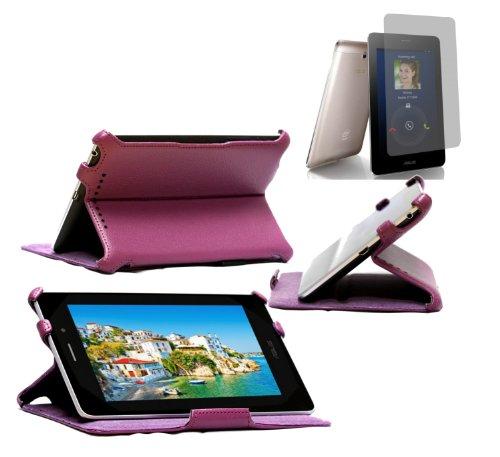 Navitech lilanes Case mit Ständer und Halteschlaufe für das Asus FonePad mit Asus Bildschirm Schutz