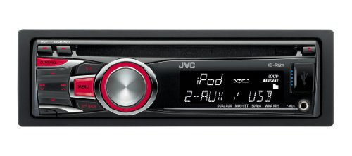 Front USB Ready for iPod and iPhone Dual Aux-in JVC KD-R521 Car CD Receiver with MP3 Tuner
