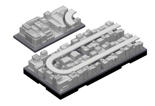 ジオクレイパー 拡張ユニット #004 高速道路セット