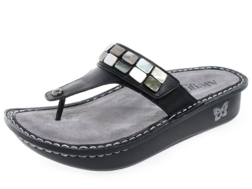 New Alegria By PG Lite ALG-CAR-611 Carina Burnish Black 36/6-6.5 Womens Sandals