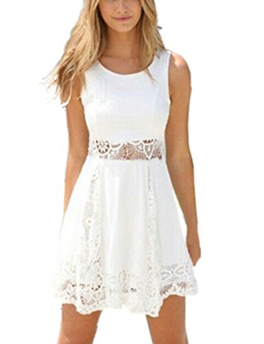 YIHUAN-Womens-Sleeveless-Lace-Patchwork-Hollow-Out-Short-Dress