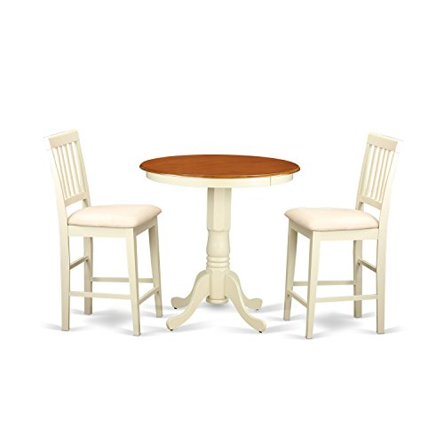 East west furniture edvn3 whi c 3 piece high top table and for Kitchen set node attributes