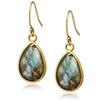 [ダブル・ブイ・ジュエリー] Double V Jewelry スモールティアドロップストーンピアス 0183-G  Labradorite