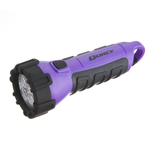 Dorcy 41-2508 Floating Waterproof Led Flashlight With Carabineer Clip, 55-Lumens, Purple Finish