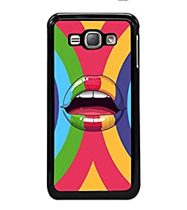 printtech Pop Lips Colored Back Case Cover for Samsung Galaxy J1 (2016) :: Samsung Galaxy J1 (2016) Duos with dual-SIM card slots :: Galaxy Express 3 J120A (AT&T); J120H, J120M, J120M, J120T